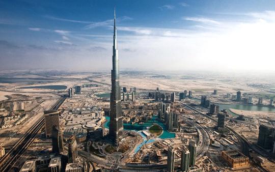 Сады и парки Бурдж Халифа / Burj Khalifa garden
